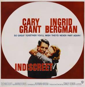 Il poster del famoso film con Cary Grant e Ingrid Bergman