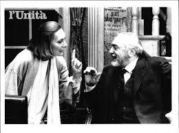 L'edizione italiana: qui Rossella Falk con Luigi Pistilli